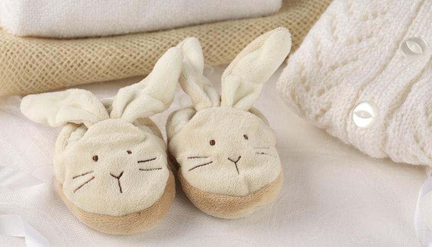 Тапочки зайчики для ребенка