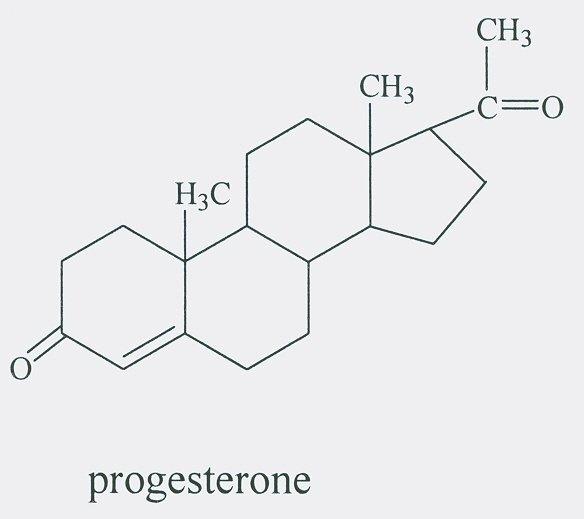 Молекула прогестерона