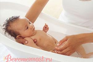 порядок купания новорожденного